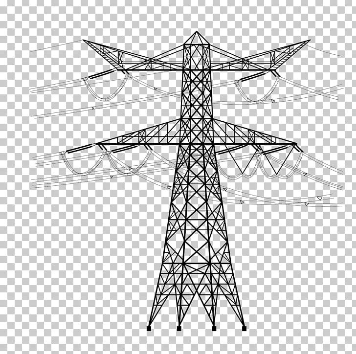 Electricity pole overhead power. Electrical clipart utility