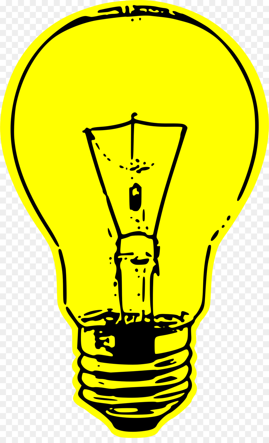 Electrical clipart yellow light bulb. Cartoon electricity