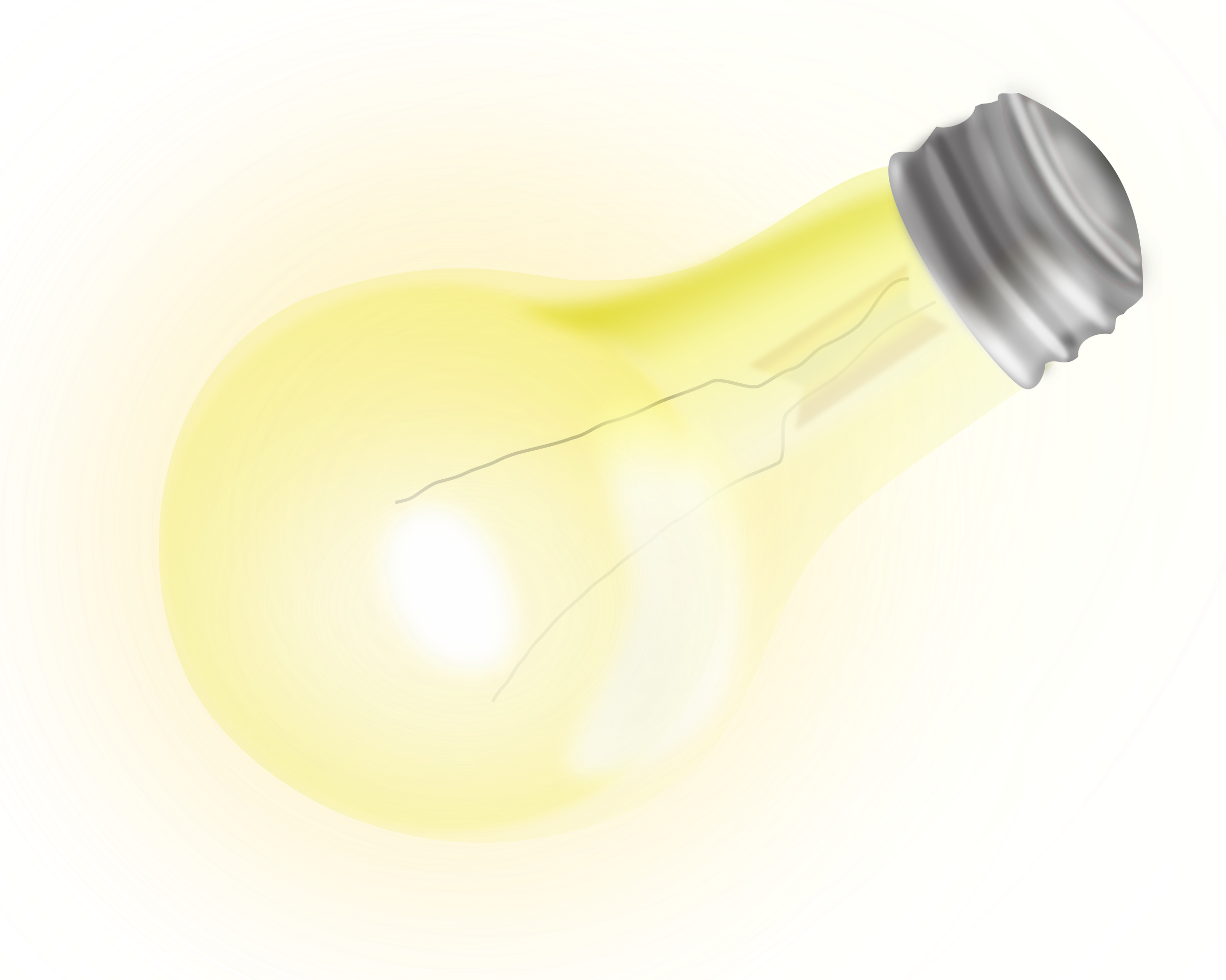 Nice big image png. Electrical clipart yellow light bulb