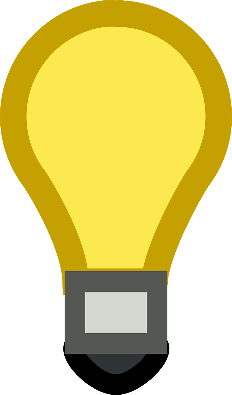 Electrical clipart yellow light bulb. Lamp gtk top i