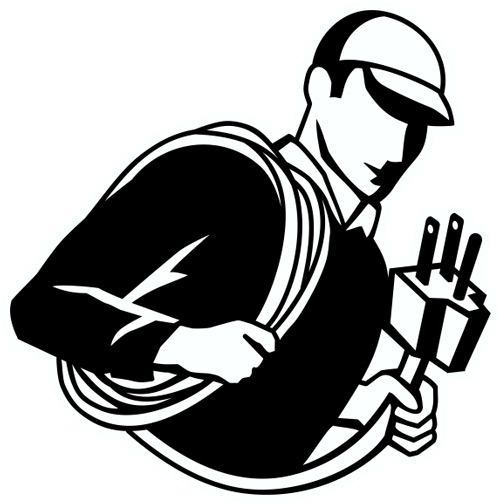 New cable mechanic trades. Electrician clipart