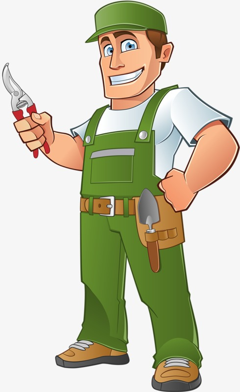Electrician clipart. Strong hand painted clip