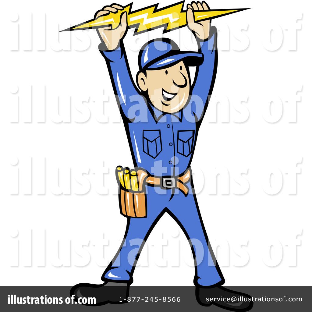 Illustration by patrimonio royaltyfree. Electrician clipart