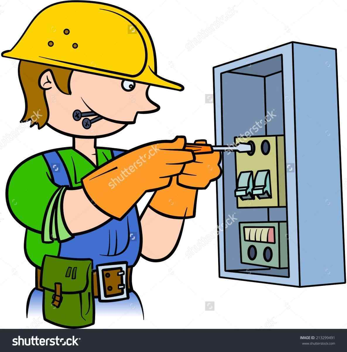 Electrician clipart. Silhouette at getdrawings com