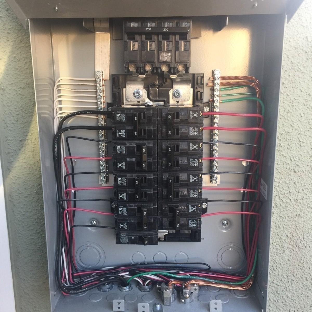 Electrician clipart breaker panel. Van nuys ca circuit