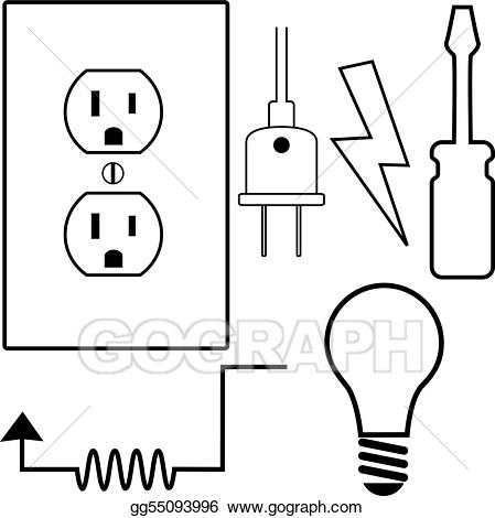 Electrician clipart electrical installation. Vector illustration repair contractor