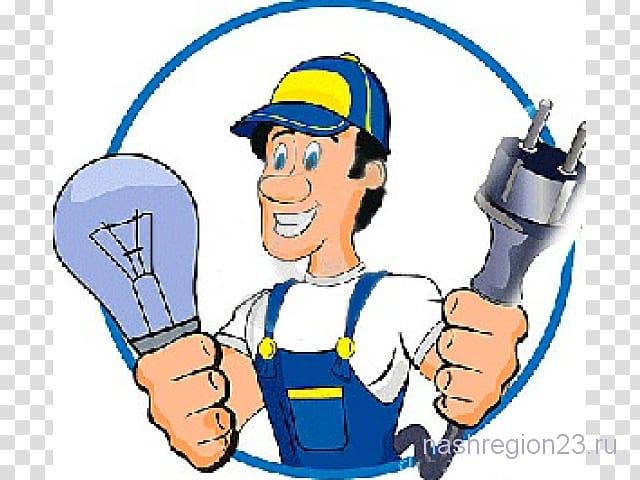 Electrician electricity home repair. Handyman clipart preventive maintenance