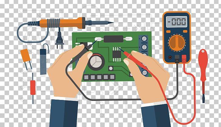 Basic electricity multimeter png. Electronics clipart electronics repair