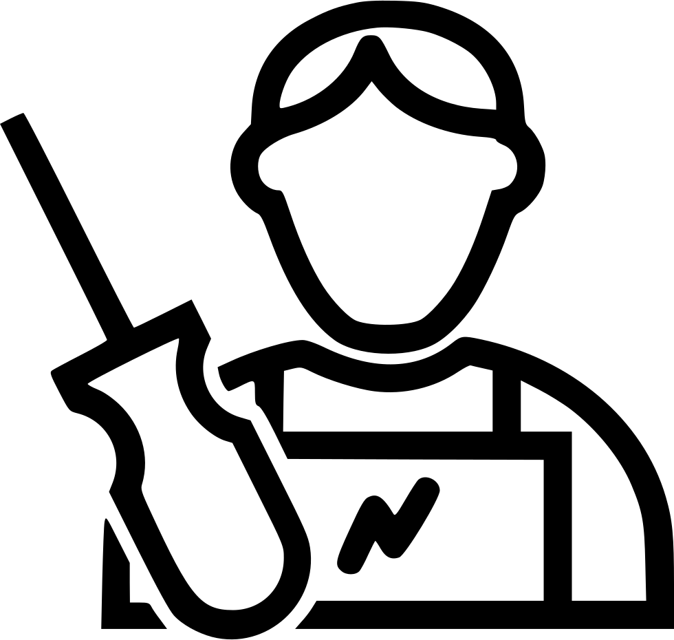 Electrician clipart female. Svg png icon free