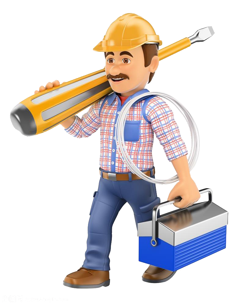 Royalty free d computer. Electrician clipart hard hat worker