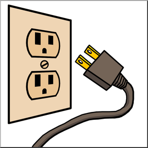 Electric clipart. Clip art electricity outlet
