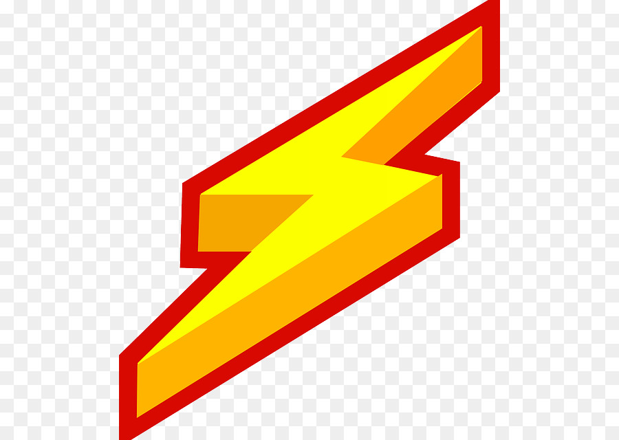 Electricity clipart. Lightning cartoon yellow