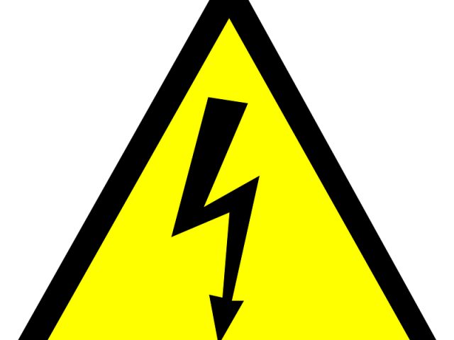 Electricity clipart be careful with. Free on warning