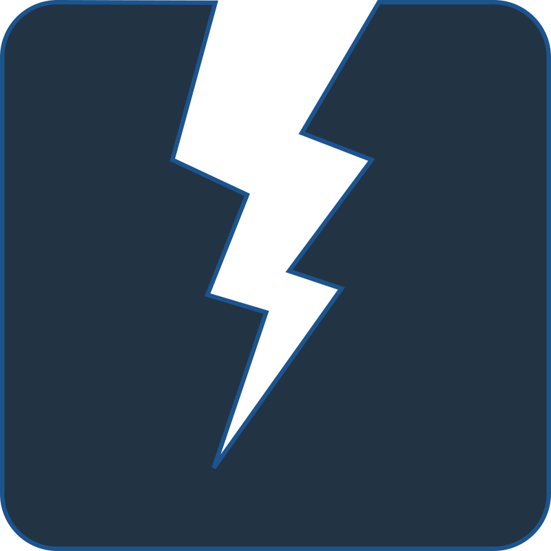 Power icon medium image. Electricity clipart blue electricity