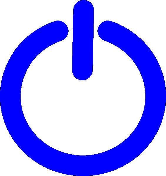 Electricity clipart blue electricity. F power button clip
