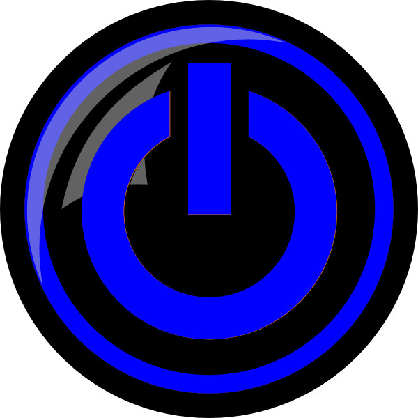 Electricity clipart blue electricity. Png power button free