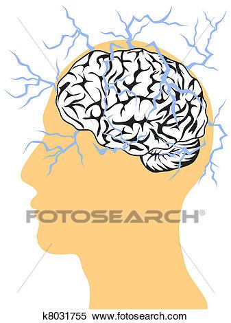 Electricity clipart brain. X free clip art