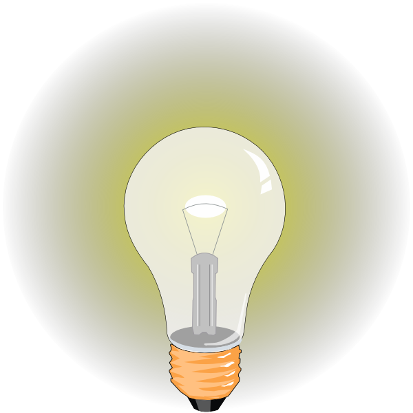 Bulb clip art at. Electrical clipart glow