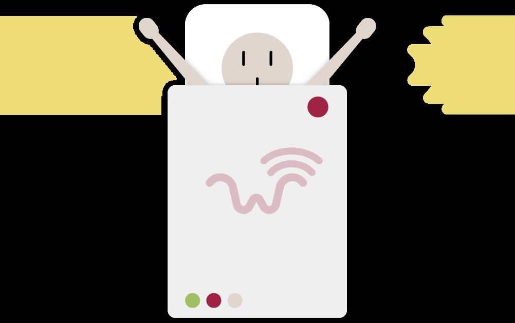 Home wigl power enter. Technology clipart wireless network