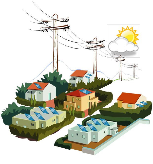 Epri distributed pv monitoring. Electricity clipart electricity distribution