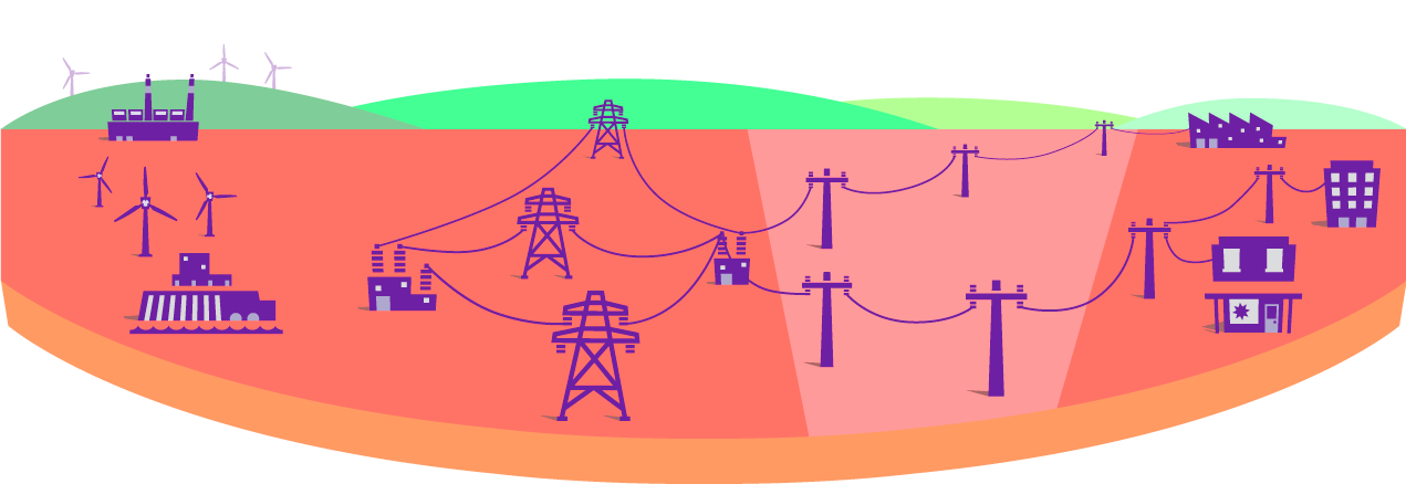 How the commercial industry. Electricity clipart electricity distribution