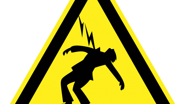 Rise in shock fatalities. Electric clipart electrocuted