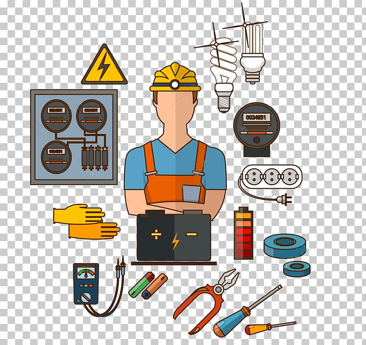 Electricity clipart engineer. Electrician electrical engineering profession