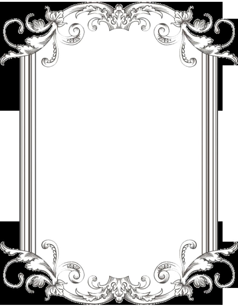 Download vintage border image. Electricity clipart frame