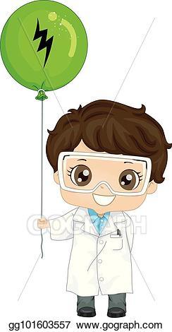 Eps illustration boy physicist. Electricity clipart kid