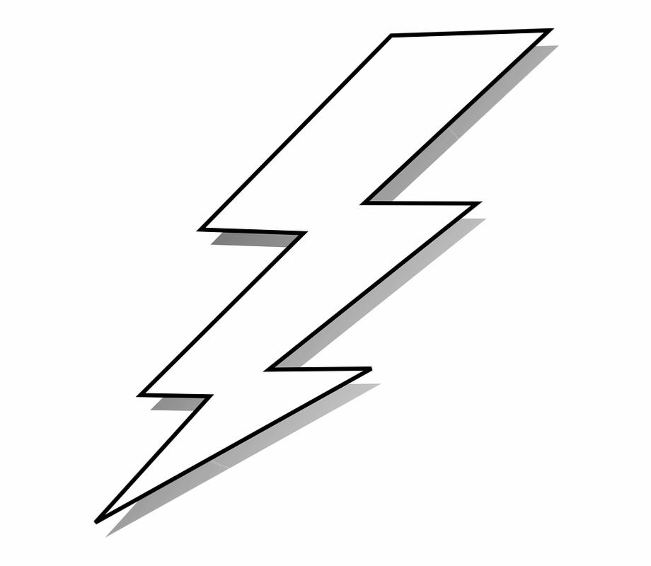 Bolt energy power black. Lighting clipart lightning strike