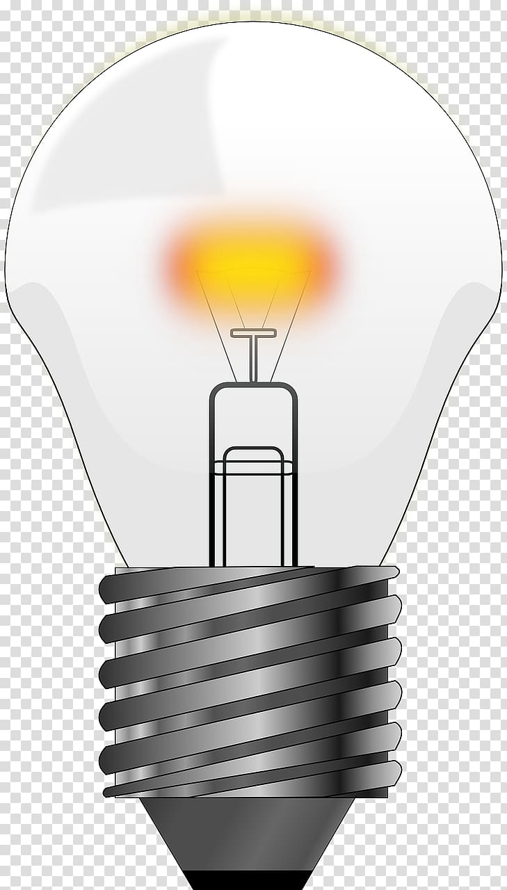 Incandescent light bulb electric. Electricity clipart lighting