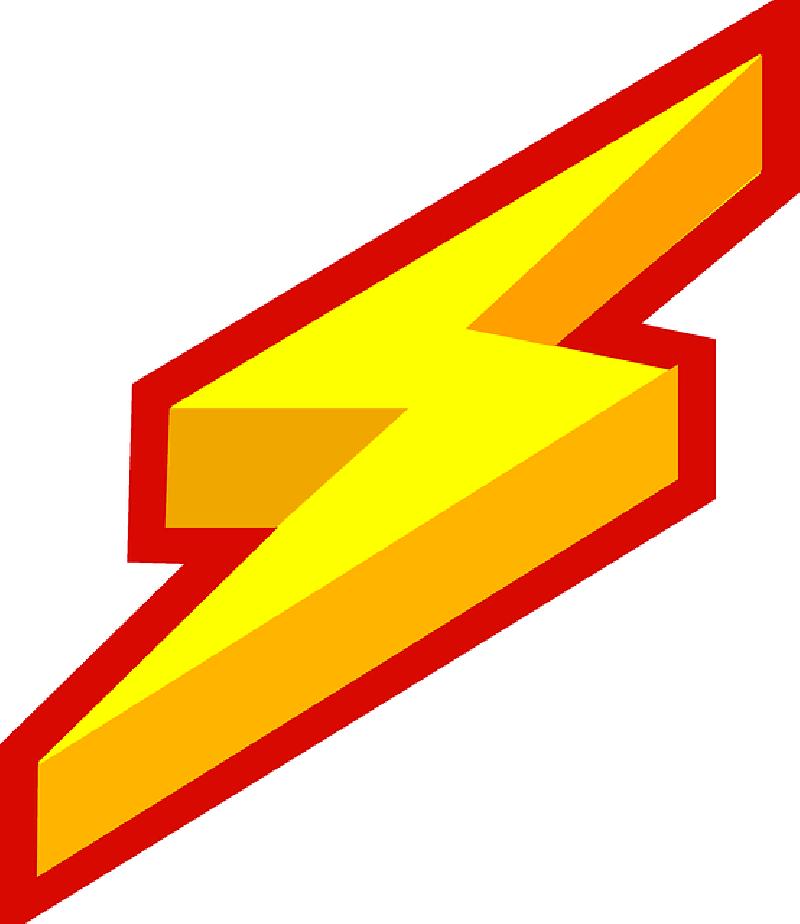 Lightening bolt clip art. Lightning clipart red yellow