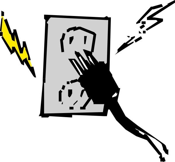 Electrical outlet and clip. Plug clipart vector