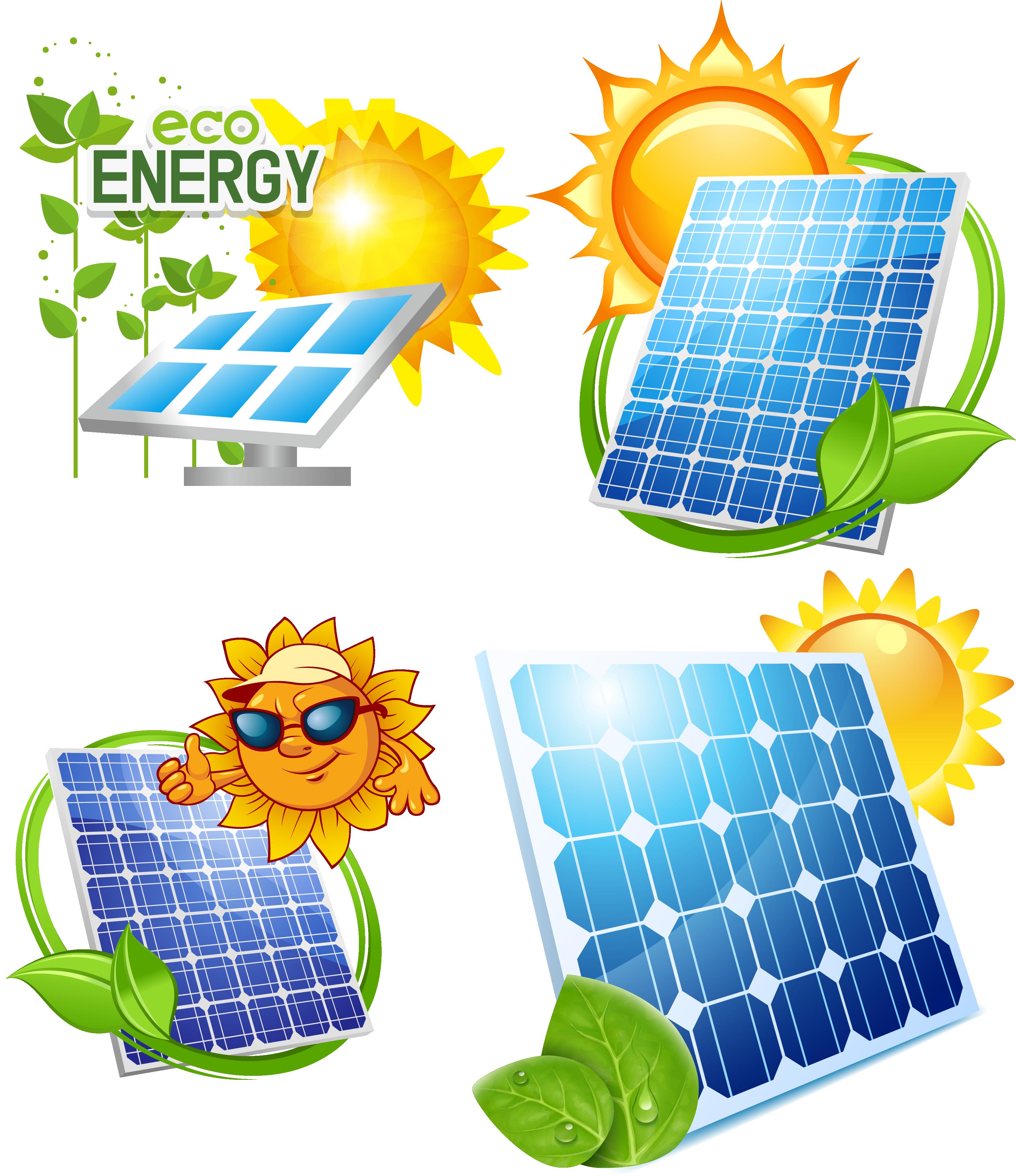 Energy clipart solar power. Panel photovoltaics energysaving design