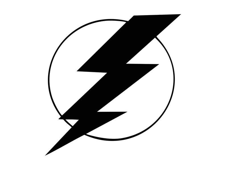 Lightning bolt electrical storm. Electricity clipart svg