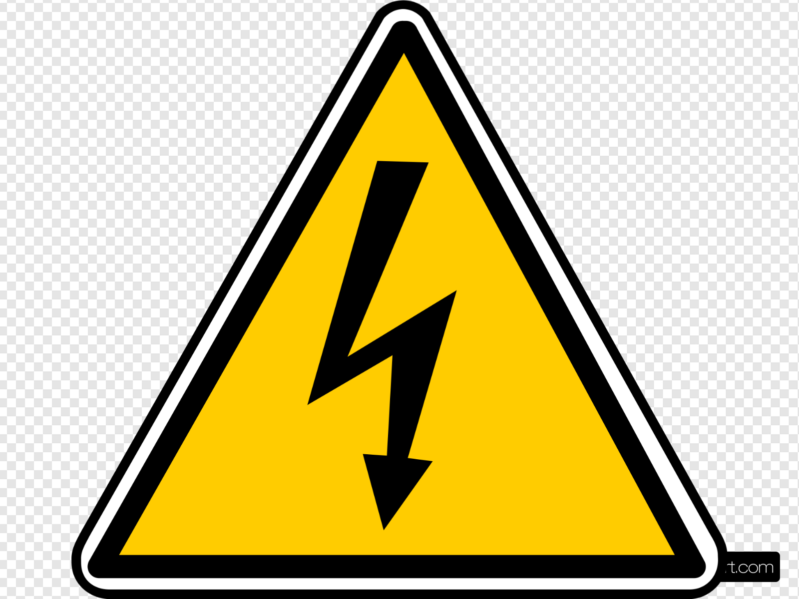 Warning clip art icon. Electricity clipart svg