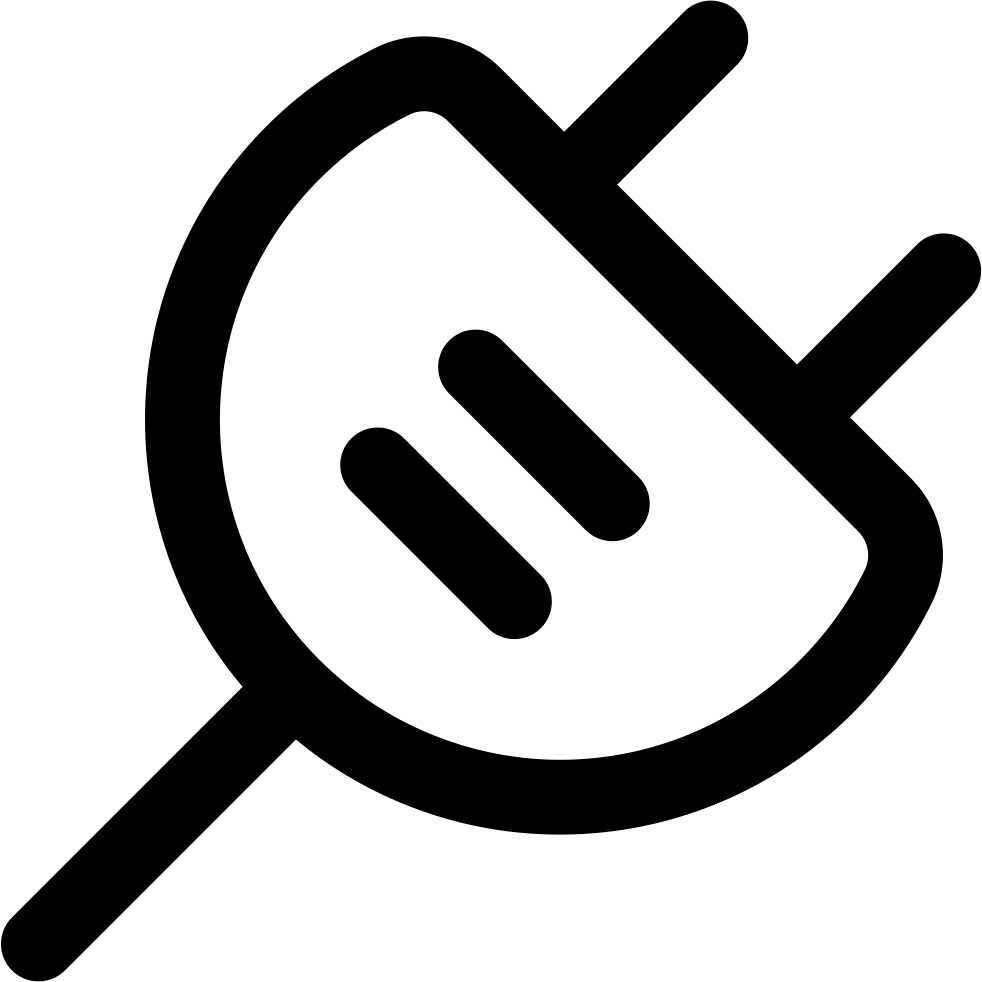 Electricity clipart svg. Plug electrical connector outline