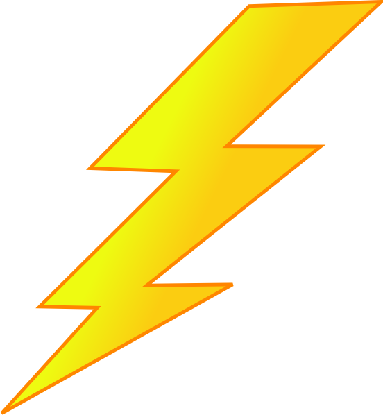 lightning clipart transparent background
