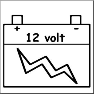 Clip art battery b. Electricity clipart volt