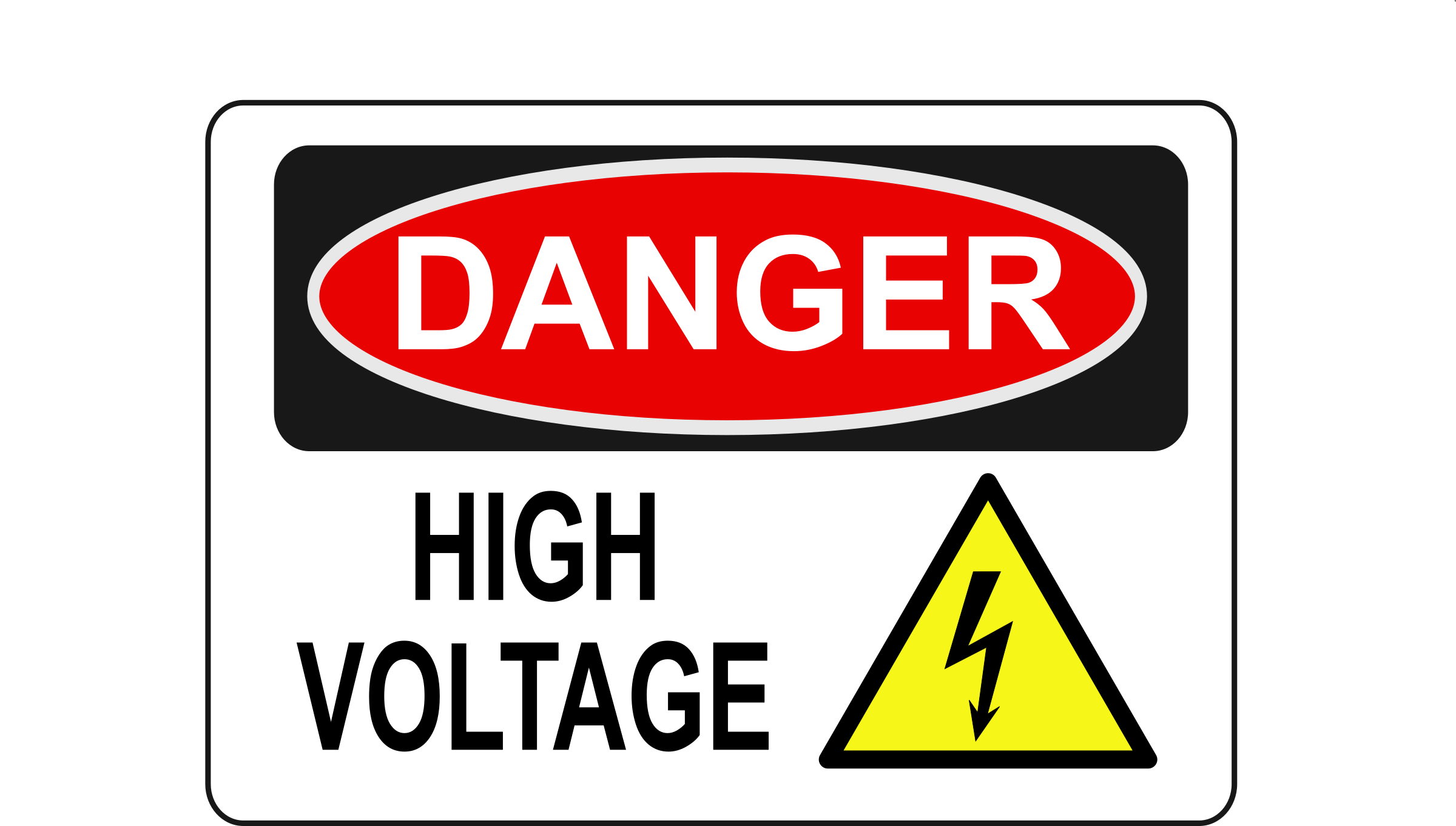 Electricity clipart voltage. Download high danger free
