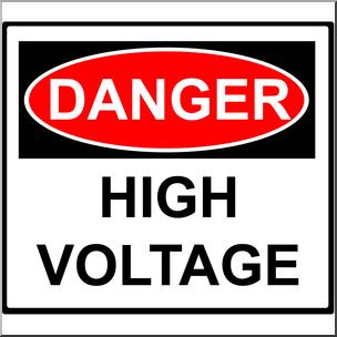 Electricity clipart voltage. Clip art danger high