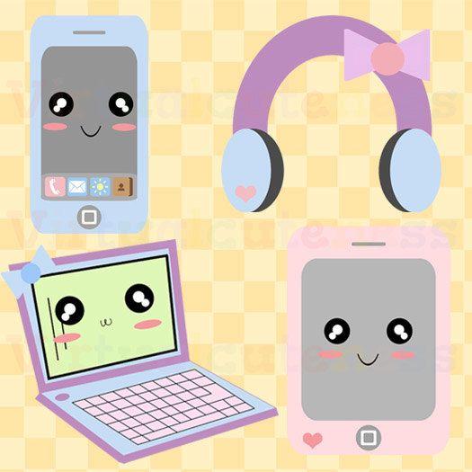 Electronics clipart. Pastel clip art phone