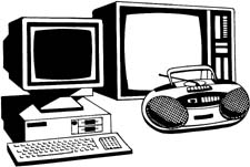 El segundo website computer. Electronics clipart black and white