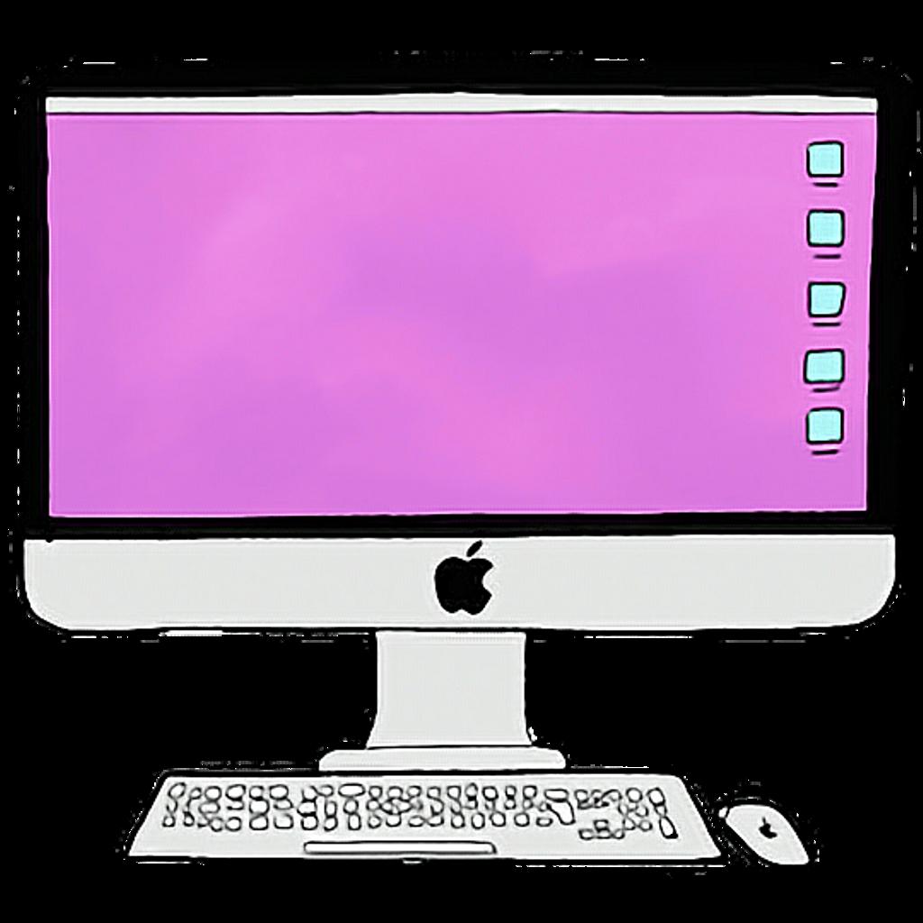 Electronics clipart collage. Desktop computer keyboard apple