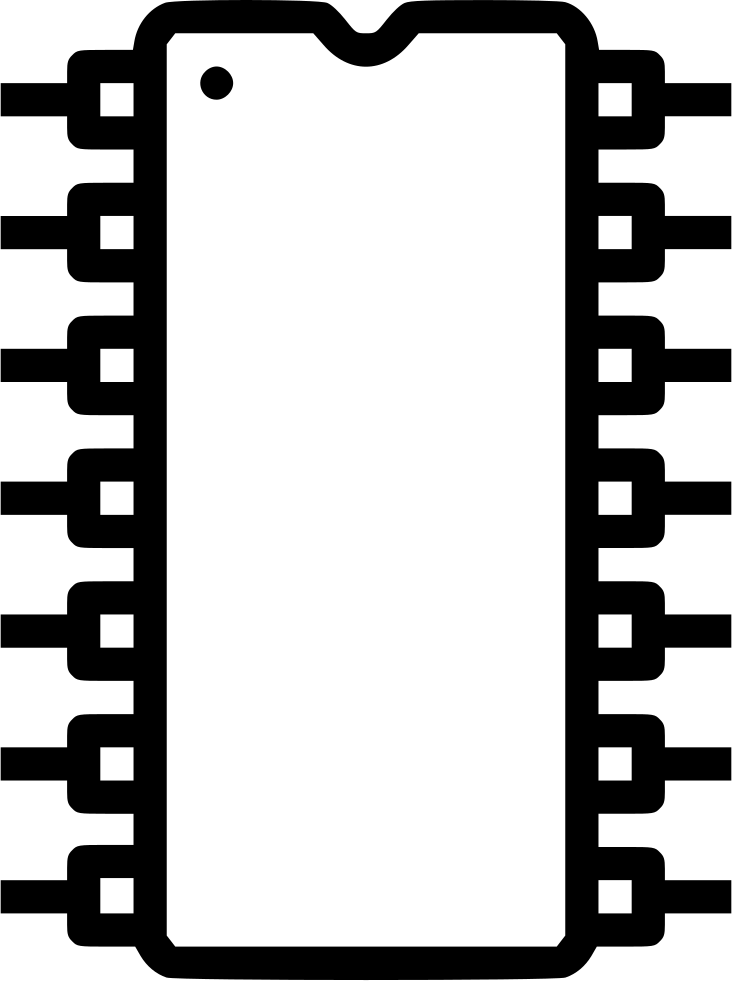 Electronic circuit solicon integrated. Electronics clipart computer chip
