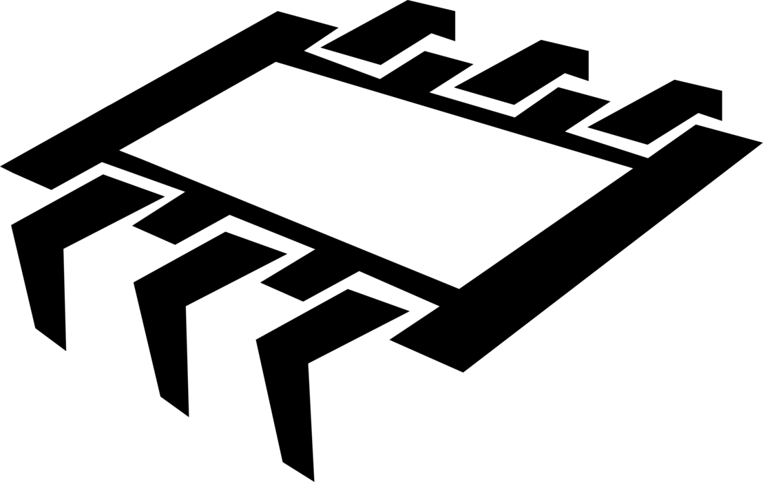 Electronics clipart computer chip. Integrated circuit vector image