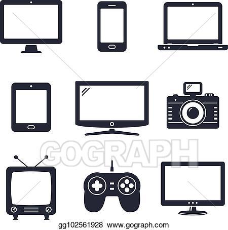Electronics clipart digital device. Vector stock modern technology