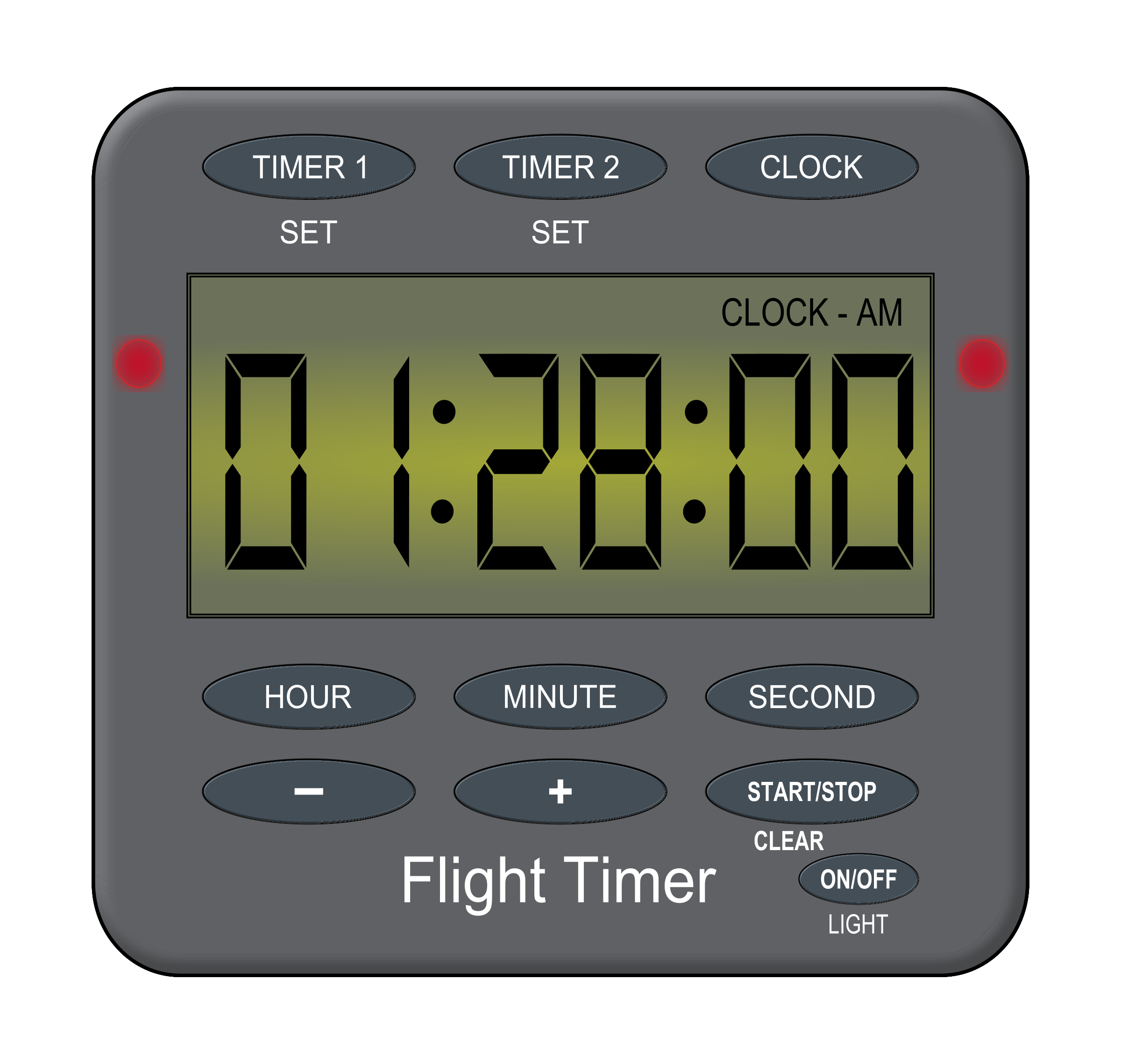 Backlight flight timer big. Electronics clipart digital device