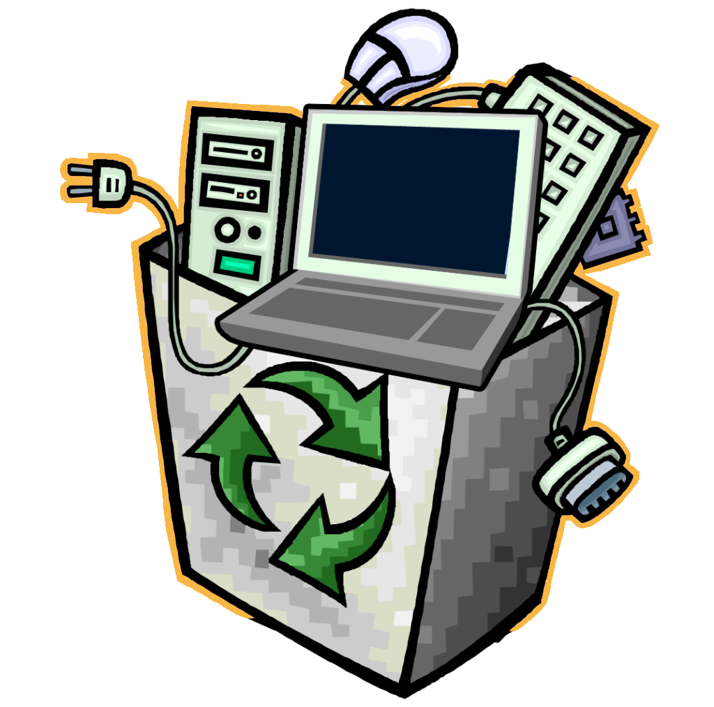 Recycle for charity electronic. Electronics clipart e waste