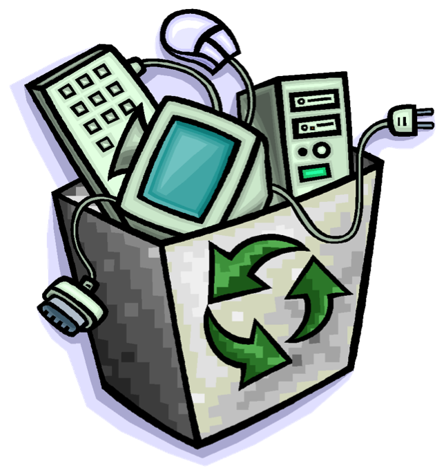 Electronics clipart e waste. Bye recycling event waterford